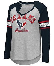 G-III Sports Women's Houston Texans Sideline Long Sleeve T-Shirt