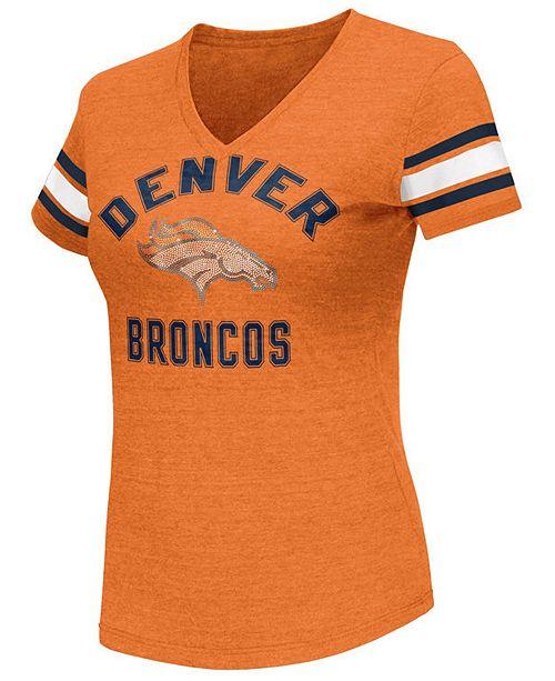 G-III Sports Women's Denver Broncos Wildcard Bling T-Shirt