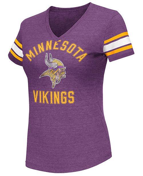 de585d9f6 G-III Sports Women s Minnesota Vikings Wildcard Bling T-Shirt ...