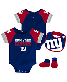 Outerstuff New York Giants Dash Bib & Bootie Set, Infants (0-9 Months)