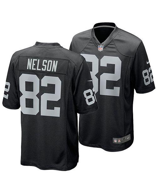 low priced 3ea13 63ada Men's Jordy Nelson Oakland Raiders Game Jersey
