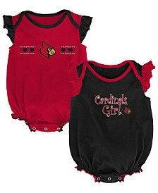 Outerstuff Louisville Cardinals Homecoming Creepers 2 Pack, Infants (0-9 Months)
