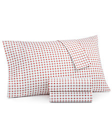 Martha Stewart Essentials Printed 220 Thread Count 4-Pc. Queen Sheet Set, Created for Macy's