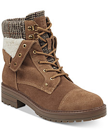Tommy Hilfiger Dyan Lace-Up Cold-Weather Boots