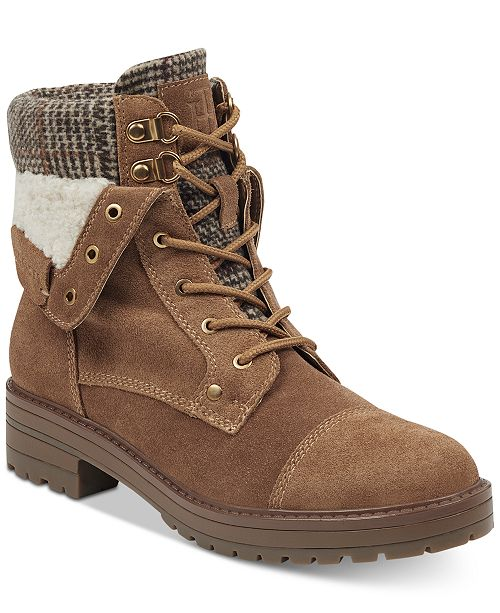 cf75fd023 Tommy Hilfiger Dyan Lace-Up Winter Boots   Reviews - Boots - Shoes ...