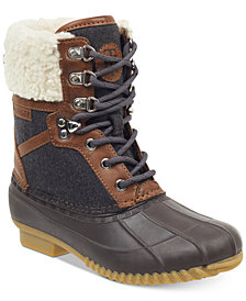 Tommy Hilfiger Rian Lace-Up Cold-Weather Boots