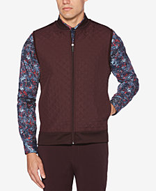 Perry Ellis Men's Houndstooth Quilted Vest