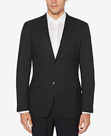 Perry Ellis Men's Very Slim-Fit Plaid Stretch Jacket