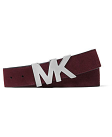 Michael Kors Men's Logo Suede Belt