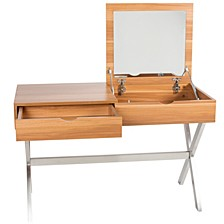 Porsha White Lacquer High-Gloss Desk And Vanity