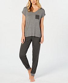 Alfani 2-Pc. Pajama Pants Set, Created for Macy's