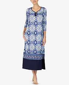 Ellen Tracy Printed Long Nightgown