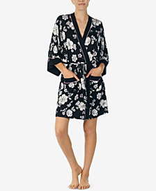 Layla Printed Short Robe & Headband Set