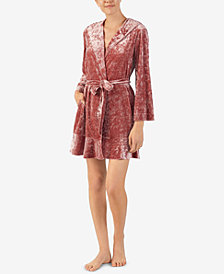 Betsey Johnson Hooded Wrap Robe