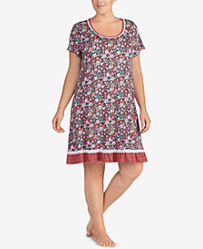 Layla Plus Size Mixed-Print Sleepshirt