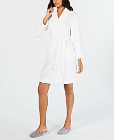 Charter Club Robe & Chenille-Knit Scuff Slippers, Created for Macy's
