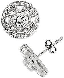 Arabella Swarovski Zirconia (4-1/4 ct. t.w.) Stud Earrings in Sterling Silver