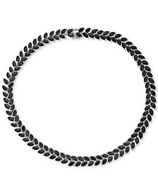 """Sapphire Marquise 18"""" Collar Necklace (75 ct. t.w.) in Sterling Silver"""