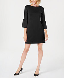 Charter Club Petite Bell-Sleeve Shift Dress, Created for Macy's