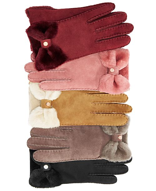 f8ef49f634c UGG® Bow Shorty Gloves & Reviews - Handbags & Accessories - Macy's