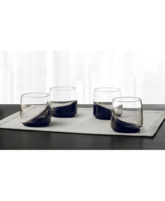 Set of 4 Small Glasses with Black Ombre, Created for Macy's