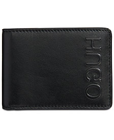 Hugo Boss Men's Bolster Logo Leather Wallet