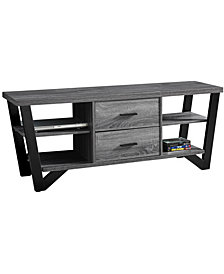 "Monarch Specialties 60""L Tv Stand with 2 Storage Drawers in Grey-Black"