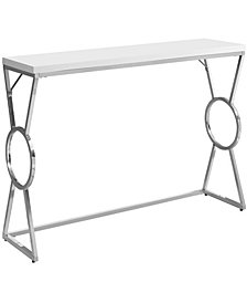 "Accent Table - 42""L Chrome Metal"