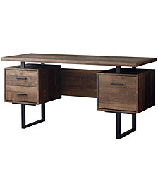 "Monarch Specialties Wood Grain 60""L Computer  Desk  60""L in Brown"