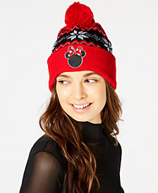 Concept One Minnie Mouse Fair Isle Cuff Beanie