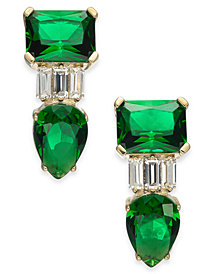 Danori Crystal & Stone Drop Earrings, Created for Macy's