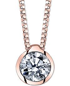 "Diamond Bezel 18"" Pendant Necklace (1/4 ct. t.w.)"