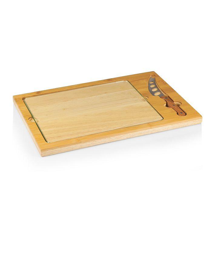 Picnic Time - Icon Glass Top Cutting Board & Knife Set