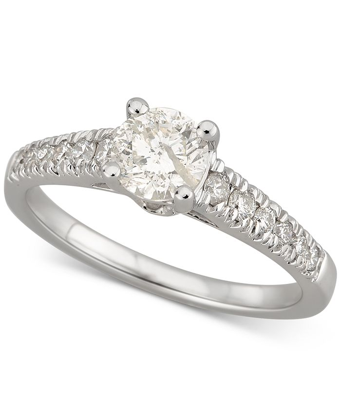 Macy's - Diamond Engagement Ring (1 ct. t.w.) in 14k White Gold