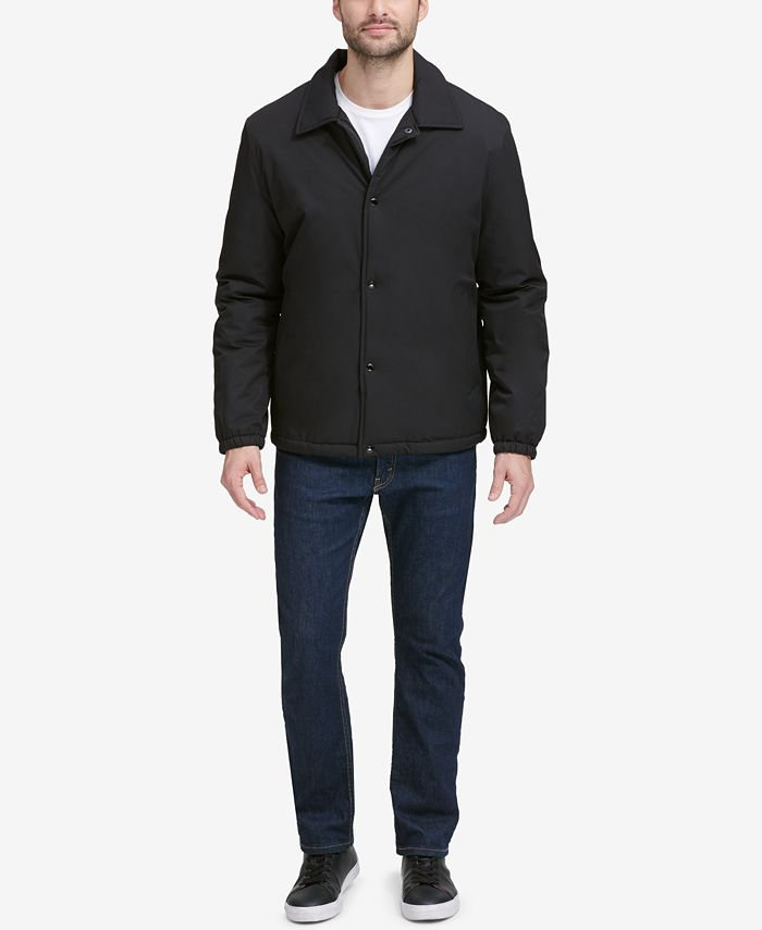 Cole Haan - Men's Coaches Jacket with Sherpa-Fleece Lining