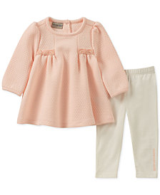 Calvin Klein Baby Girls 2-Pc. Bow Tunic & Leggings Set
