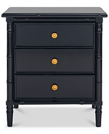 Mina 3-Drawer Nightstand, Quick Ship