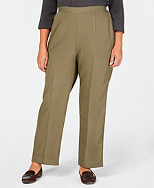 Alfred Dunner Plus Size Autumn in New York Pull-On Proportioned Pants