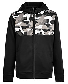 Ideology Big Boys Camo-Print Zip-Up Hoodie, Created for Macy's