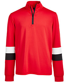Ideology Big Boys Colorblocked 1/4-Zip Active Jacket, Created for Macy's