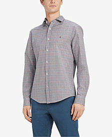 Tommy Hilfiger Men's Rappaport Classic Fit Plaid Shirt, Created for Macy's