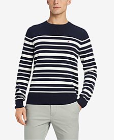 Tommy Hilfiger Men's Signature Eastport Striped Sweater, Created for Macy's