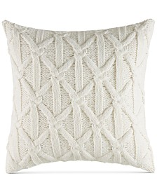 Nautica Clearview Ivory Lattice Knit Pillow