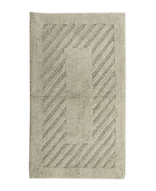 Diagonal Racetrack 20x30 Cotton Bath Rug