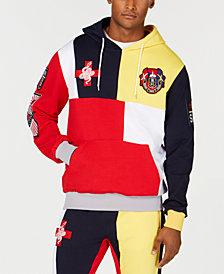 Reason Men's Blue Jacket Colorblocked Hoodie
