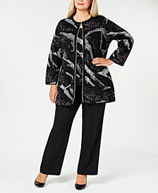Kasper Plus Size Cardigan, Shell & Trousers