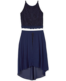 BCX Big Girls 2-Pc. Glitter-Lace Dress