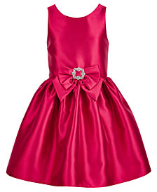 Pink & Violet Big Girls Bow-Trim Satin Dress