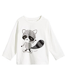 First Impressions Baby Boys Raccoon-Print Cotton T-Shirt, Created for Macy's
