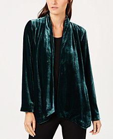 Eileen Fisher Velvet Open-Front Jacket, Regular & Petite